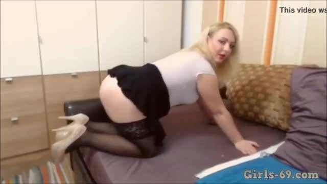 Mature Blonde stripping and teasing