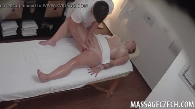 Beautiful Chubby Redhead Teen Slut Oiled and Fucked by Naughty Masseur