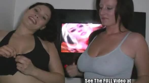 Sexy brunettes Tosha and Megan like to share cock at the gloryholen