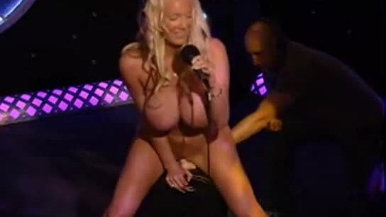 Brittaney Starr rides a sybian on the Howard Stern Show