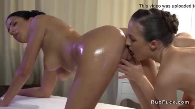 Hot lesbian oil erotic massage